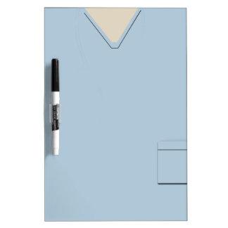 Medical Scrubs Light Blue Dry Erase Dry-Erase Board