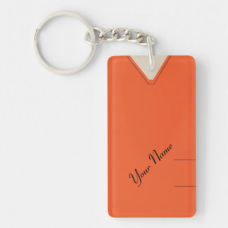 Medical Scrubs Nurse Doctor Orange Custom Acrylic Single-Sided Rectangular Acrylic Keychain