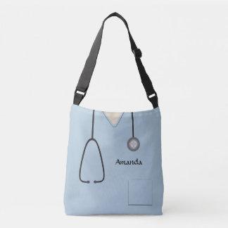 Medical Scrubs Nurse Light Blue AOPMCBB Crossbody Bag