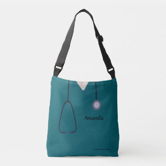 Medical Scrubs Nurse Teal AOPMCBB Crossbody Bag