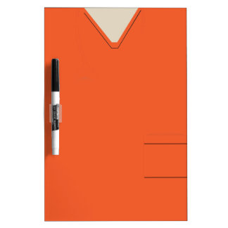 Medical Scrubs Orange Dry Erase Dry-Erase Board