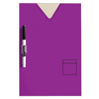 Medical Scrubs Purple Dry Erase Dry-Erase Board