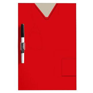 Medical Scrubs Red Dry Erase Dry-Erase Board