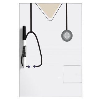 Medical Scrubs Stethoscope White Dry Erase Dry-Erase Board