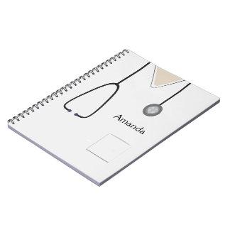 Medical Scrubs White Notebook