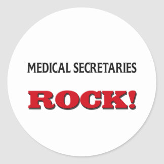Medical Secretaries Rock Round Stickers