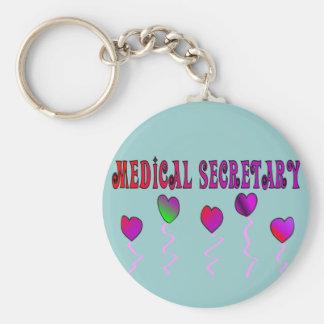 Medical Secretary Gifts Basic Round Button Keychain