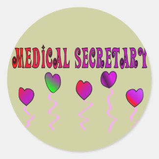 Medical Secretary Gifts Classic Round Sticker