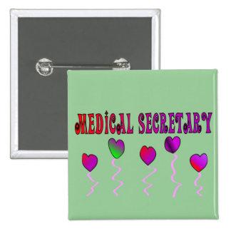 Medical Secretary Gifts Pinback Button