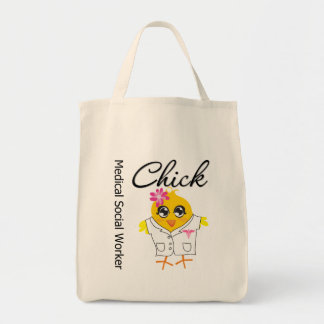 Medical Social Worker Chick Tote Bags