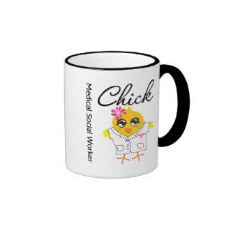 Medical Social Worker Chick Ringer Coffee Mug