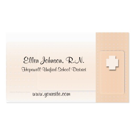 Medical staff rn nurse business card zazzle for Nurse business cards