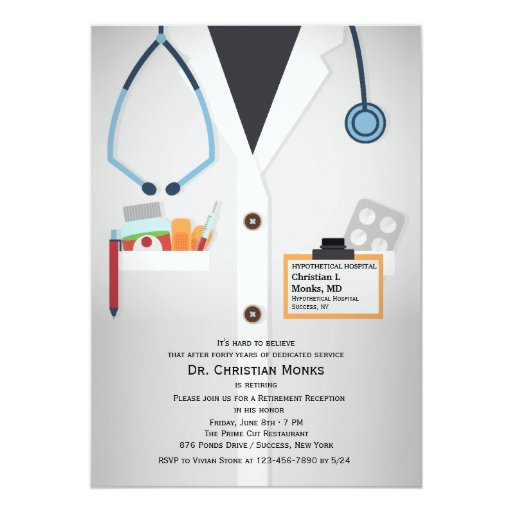 Medical Staff Retirement Invitation