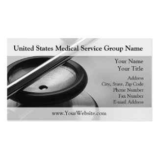 Medical Stethoscope, Black and White Double-Sided Standard Business Cards (Pack Of 100)