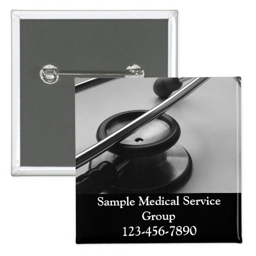 Medical Stethoscope, Black and White Buttons