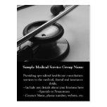 Medical Stethoscope, Black and White Postcard