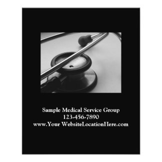 Medical Stethoscope Business, Black and White Flyer