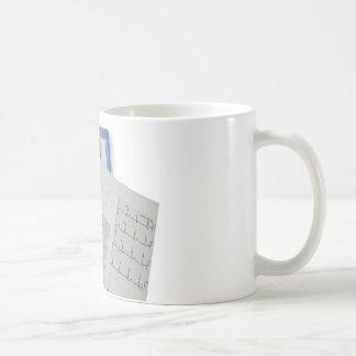 medical stethoscope on cardiogram EKG readings Classic White Coffee Mug