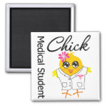 Medical Student Chick 2 Inch Square Magnet