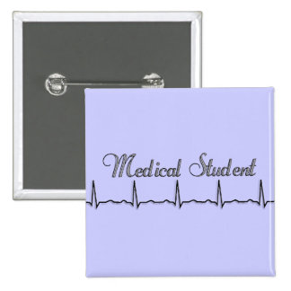Medical Student QRS Design Gifts 2 Inch Square Button