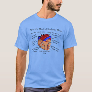 Medical Student T-Shirt Funny Heart Diagram