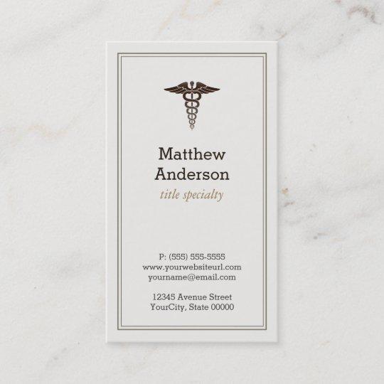 Medical student teacher caduceus elegant classic business card medical student teacher caduceus elegant classic business card colourmoves