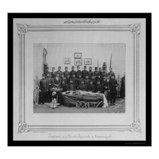 Medical Students and Cadaver Istanbul 1885 Poster