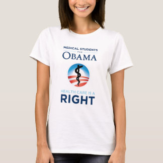 Medical Students for Obama T-Shirt - Fitted White