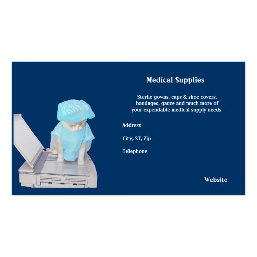 Medical Supplies Double-Sided Standard Business Cards (Pack Of 100)