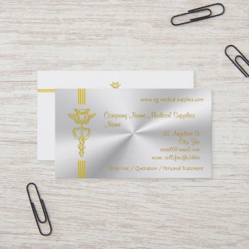 Medical Supplies with Caduceus - clean design Business Card