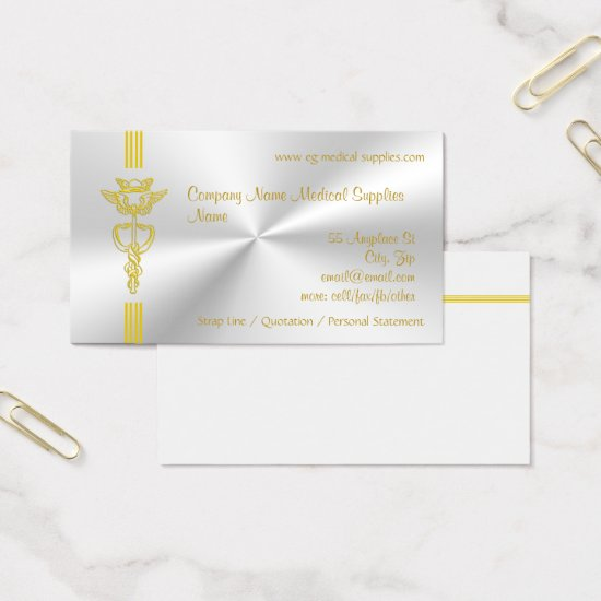 Medical Supplies with Caduceus - clean design Business Card