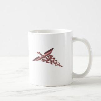 Medical Symbol Asclepius Caduceus Burgundy Shimmer Coffee Mug