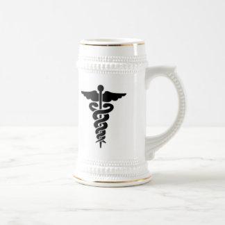 Medical Symbol Beer Stein