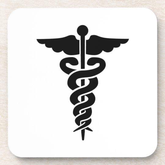 Medical Symbol Beverage Coaster