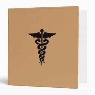 Medical Symbol 3 Ring Binder