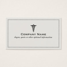 Medical Symbol Business Card at Zazzle