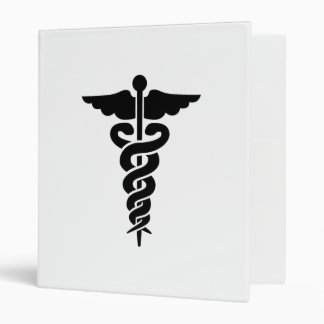 Medical Symbol Caduceus 3 Ring Binder