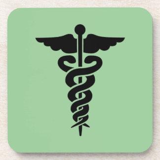Medical Symbol Beverage Coasters