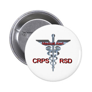 Medical Symbol - CRPS RSD Medical Alert 2 Inch Round Button