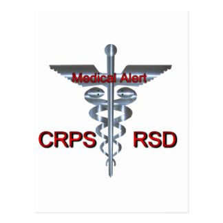 Medical Symbol - CRPS RSD Medical Alert Postcard