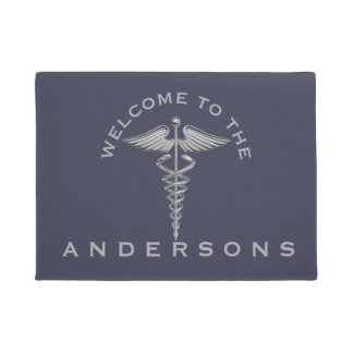 Medical Symbol Custom Color Personalized Welcome Doormat