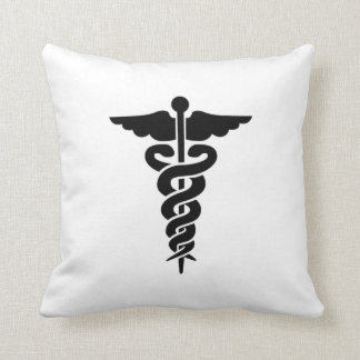 Medical Symbol Nurses and Doctors Throw Pillow