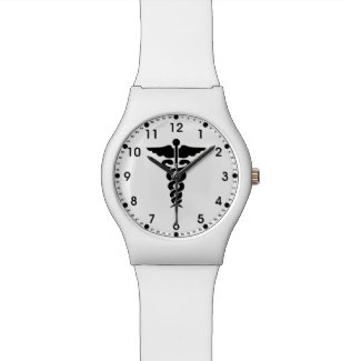 Medical Symbol Nurses and Doctors Wrist Watch