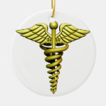 Medical Symbol Double-Sided Ceramic Round Christmas Ornament