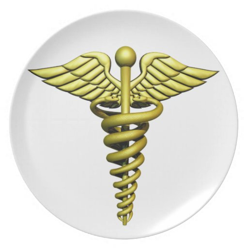 Medical Symbol Party Plate