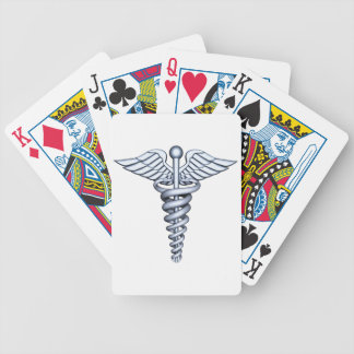 Medical Symbol Silver Bicycle Playing Cards