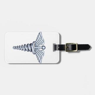 Medical Symbol Silver Luggage Tag