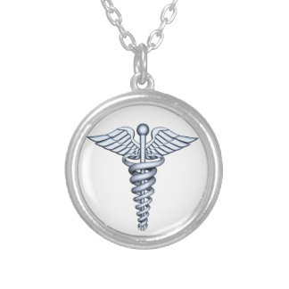 Medical Symbol Silver Silver Plated Necklace