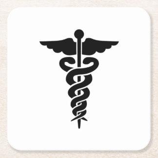 Medical Symbol Square Paper Coaster