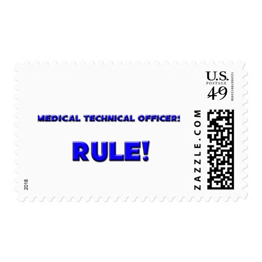 Medical Technical Officers Rule! Postage Stamp